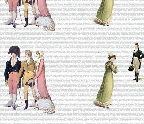 Persuasion fabric by studiofibonacci on Spoonflower - custom fabric. My favorite of Austen's books, could be on my wall! Or a pillow!
