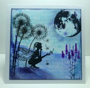 Octobers challenge blues and Purples, inspirational samples from Lavinia Stamps Design team