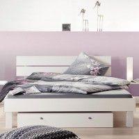 Schlafzimmerbett Holzbett Weiß ELSA