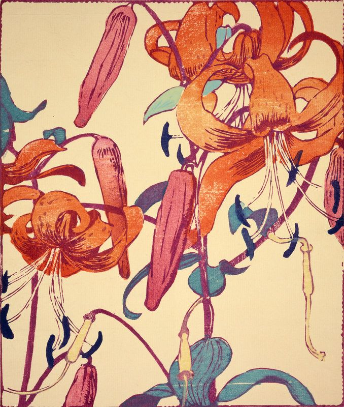 Tiger Lilies by Mabel Royds (1874-1941)