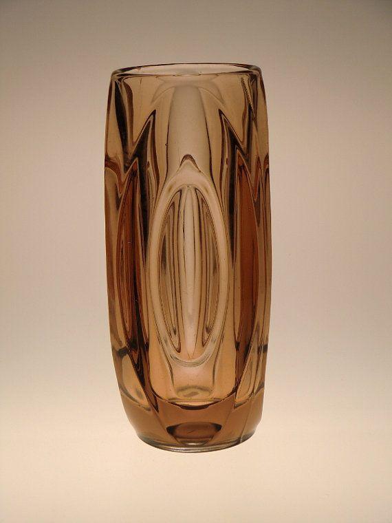 Czech Bohemian Rosice Art Glass Vase by Rudolf Schrotter, $49.00