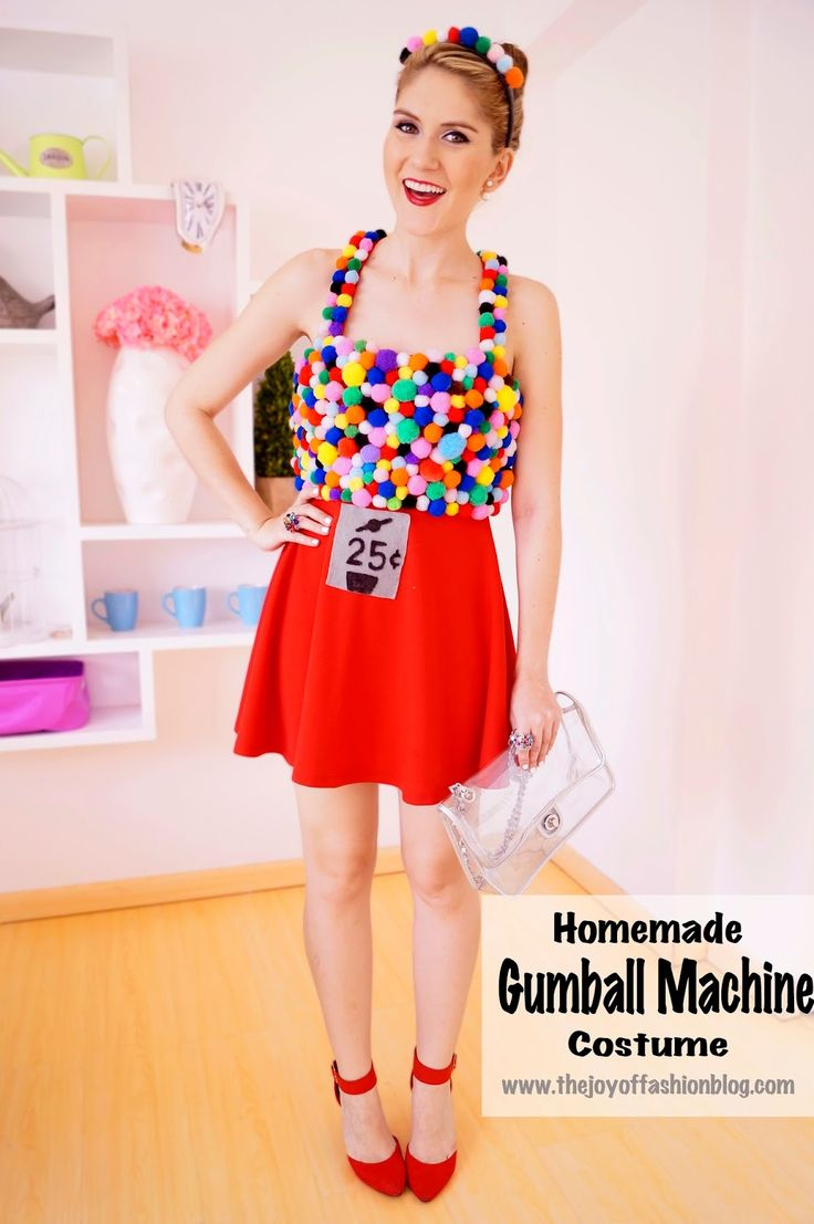diy halloween costumes diy gumball machine costume click through for step by 30948
