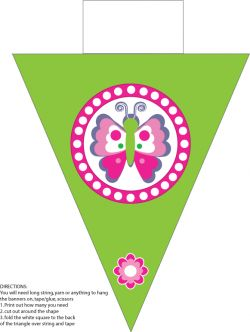 Butterfly Banner 2 Party Decorations