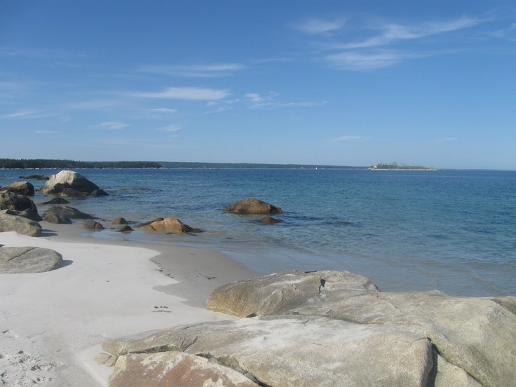 Charters Beach, almost like the Caribbean on the south shores of Nova Scotia