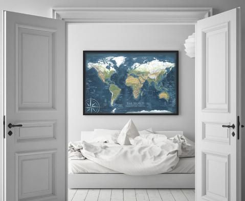 9 best world maps images on pinterest map frame bulletin boards framed pin board map by geojango map art made by a professional cartographer gumiabroncs Gallery
