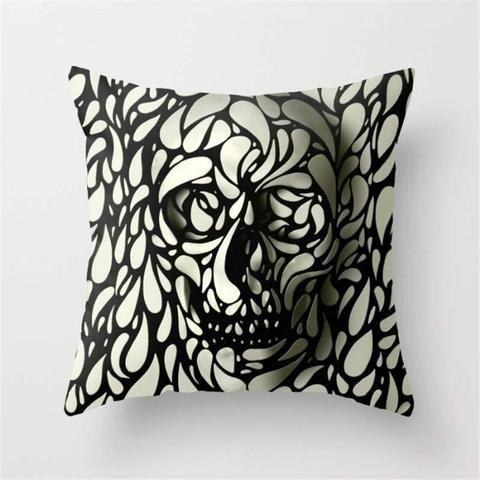 3D Skulls Cushion Cover