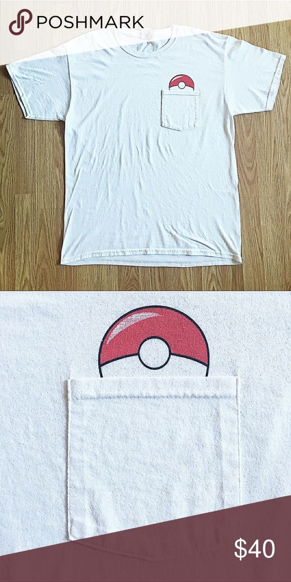 Pokemon PokeBall Pocket T'shirt Up for sale is a Pokemon PokeBall Pocket T'shirt in A+ condition with no flaws ! Pokemon Shirts Tees - Short Sleeve