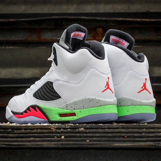 「This week's Air Jordan Retro release combines hits of Infrared and Poison  Green for an