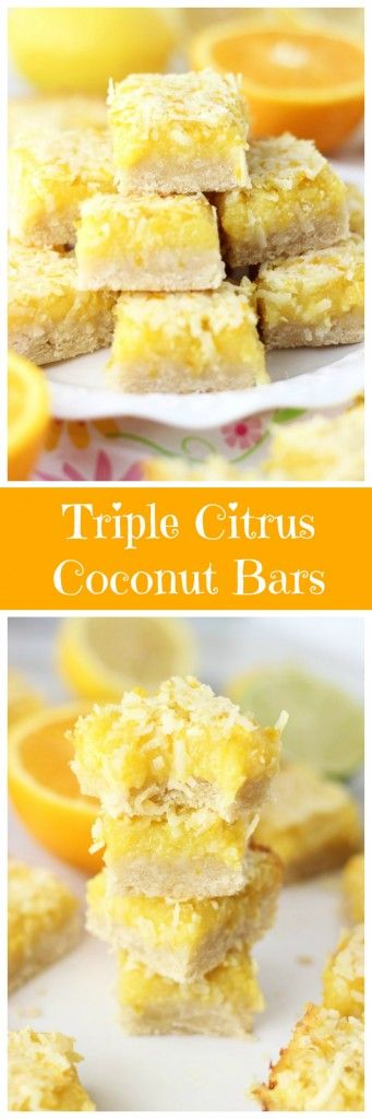 Featuring lemon, lime, and orange flavors, these citrus and coconut bars are an upgrade from traditional lemon bars!