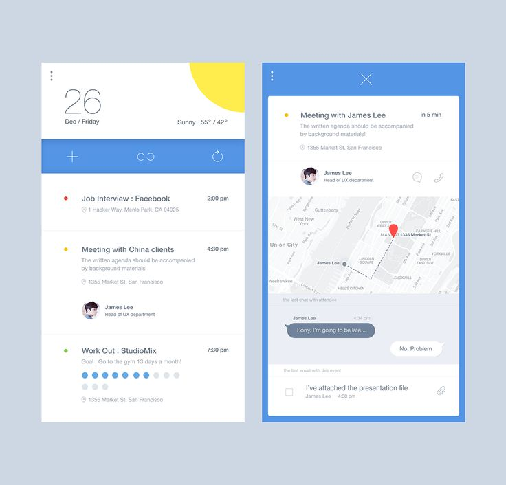 Assistant App Service UI on Behance