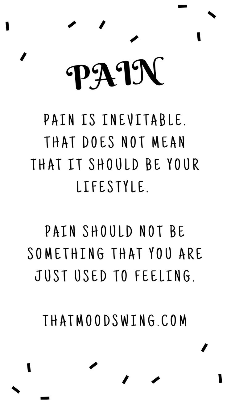 Don't let pain take the best of you. | thatmoodswing.com | my blog.
