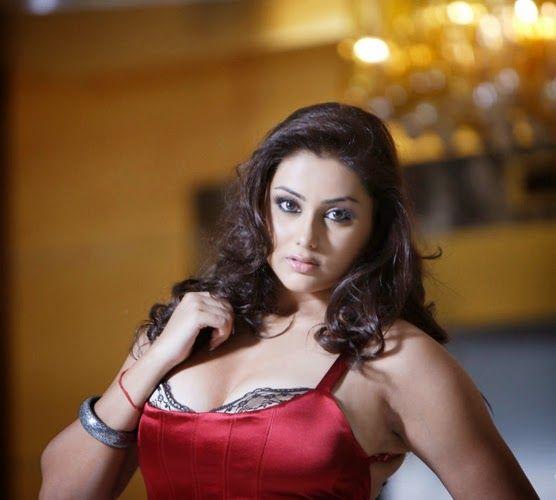 Telugu Actess Namitha in Red Top Hot