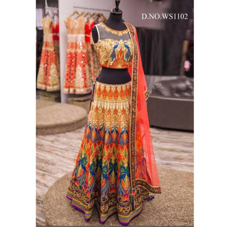 Designer Ghagra Choli available online at Mirraw.com