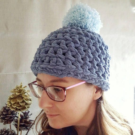 Check out this item in my Etsy shop https://www.etsy.com/uk/listing/542975293/blue-crochet-bobble-hat-blue-beanie-hat