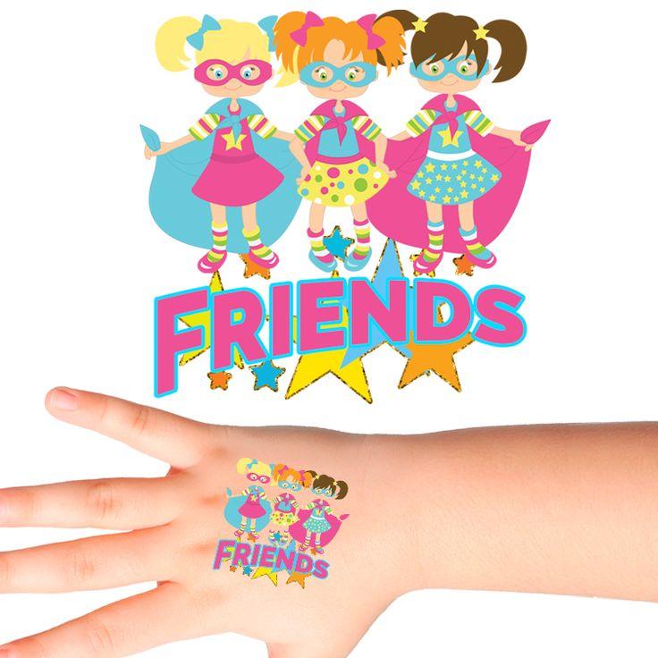 Super Friends Temporary Tattoos #361 (24 pack)