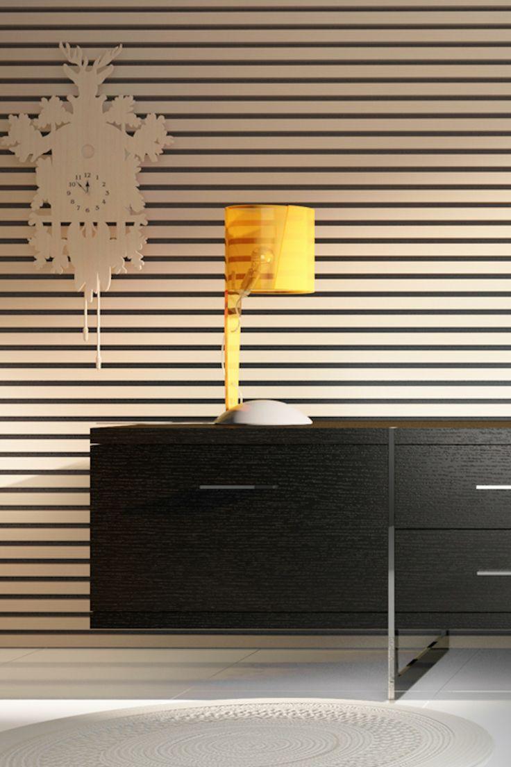 Piet hein eek scrapwood wallpaper modern wallpaper los angeles - Horizontal Stripe Wallpaper Composition Eye Candy