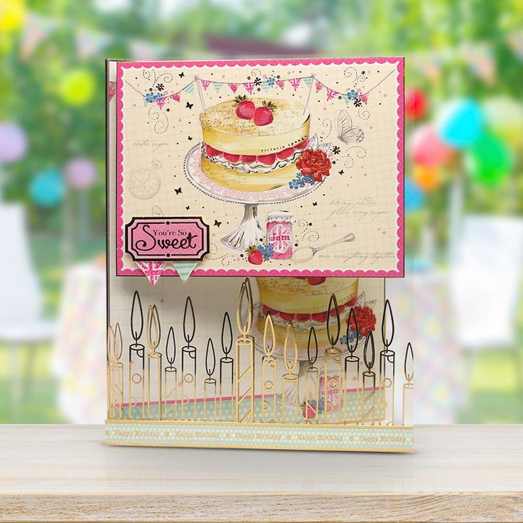 Card made using the 'Birthday Bake' luxury topper set from Birthdays for Her by Hunkydory Crafts