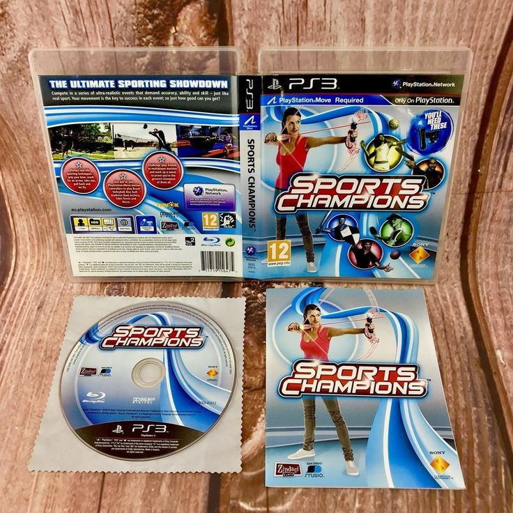 Sony Playstation 3 Game SPORTS CHAMPIONS Ps3 Complete Gift Present 🎁 move req
