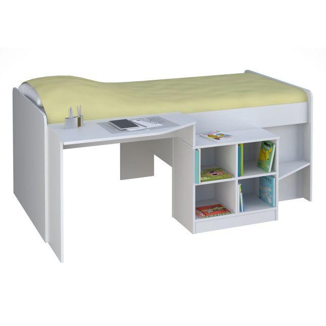 Hochbett Mit Schreibtisch 2. einrichten kinderzimmer junge weiß ...