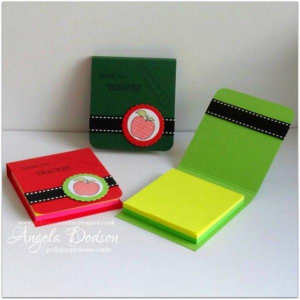 Gift idea for teacher - Post it note holders