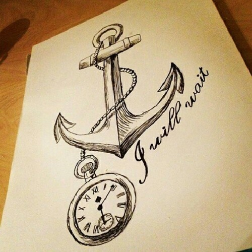 anchor drawing sketch please Wait Anchors