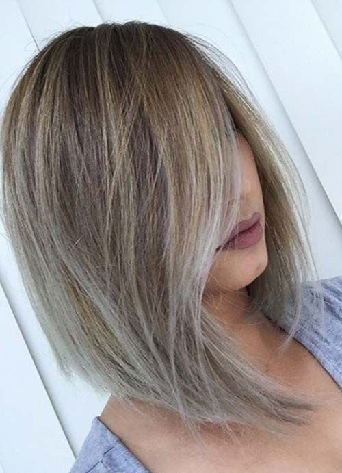 Short Hairstyles for Women with Thin/ Fine Hair: Side-Swept Bob  #thinhair shorthairstyles #finehair