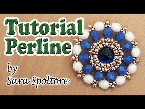 Sarubbest: tutorial perline - Ciondolo con perline - Come incastonare con le perline - YouTube