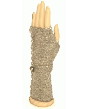 Victorian Style Cashmere Fingerless Mittens  Wavy Edge Knit Detail  Button & Strap At Wrist  Perfect For Texting, Driving & Even Eating With Chopsticks  100 % Cashmere  Hand Wash / Dry Flat     Price: $58.00