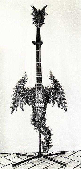 Weird Bass Guitars | Dragon Bass, previously a Brownsville Bat Bass