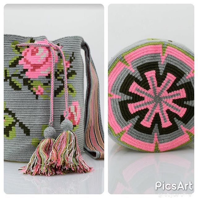 Wayuu Mochila bag Rose