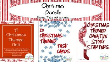 1) This is a unit about the Christmas season. It is designed for the students to enjoy and have fun. There are also activities that will challenge the students. I have included reading comprehensions, poetry writing and appreciation, story writing, craft, a quiz, wonderwords and crosswords. 2) An original set of 20 Task Cards designed to stimulate creativity and imagination.