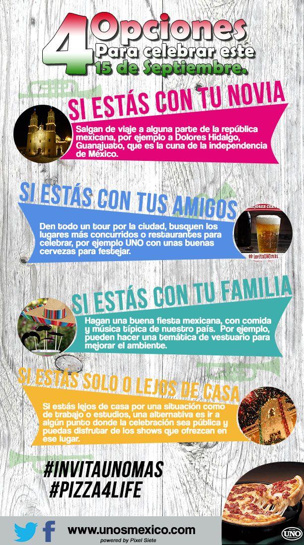 4 Opciones para celebrar este 15 de Septiembre #Mexico #UNO #UNOSMEXICO #UNOMX #UnoChicago #Independencia #IndependenciaDeMexico