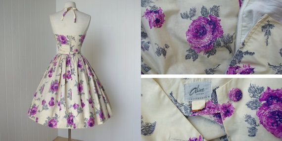vintage 1950's dress ...gorgeous ALICE OF CALIFORNIA by traven7