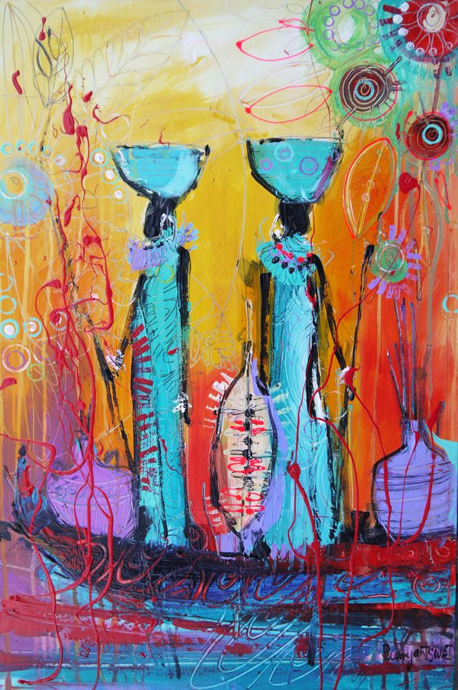 African Print Hand Bath Towel By Irina Rumyantseva Hand Towel