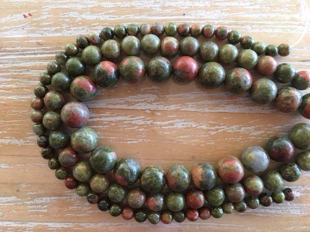 Unakite - 4, 6 & 8mm beads