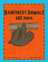 Rainforest ABC Order Activity: Practice alphabetizing these 8 rainforest animals with cards first, and then writing them in order.