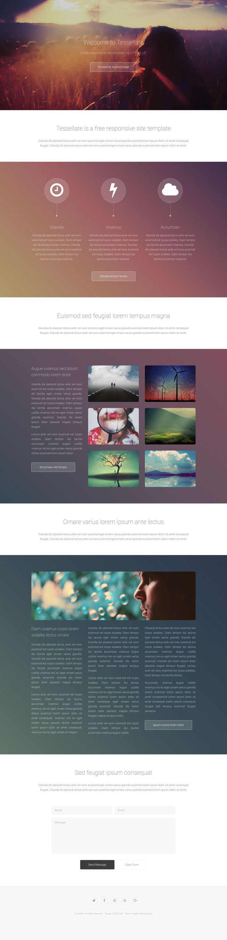 Best Free HTML Templates Images On Pinterest Free Html - Free responsive personal website templates
