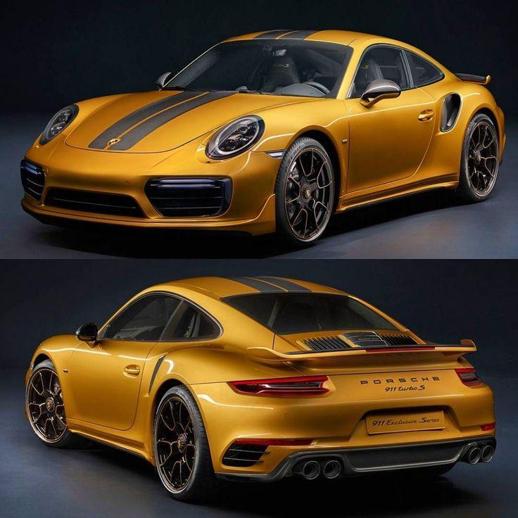 Porsche 911 Turbo S Exclusive Series 2018 Série especial é o mais potente 911 Turbo S até hoje feito. O bloco seis cilindros 3.8 biturbo com 607 cv e 750 Nm de torque faz de 0 a 100km/h em apenas 2.9s com máxima de 330km/h. São 500 unidades para todo o mu