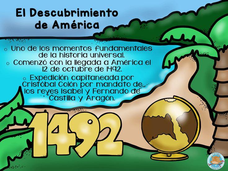 Laminas Para Trabajar El Descubrimiento De America 12 Viajes De Cristobal Colon Cristobal Colon Para Ninos Biografia De Cristobal Colon