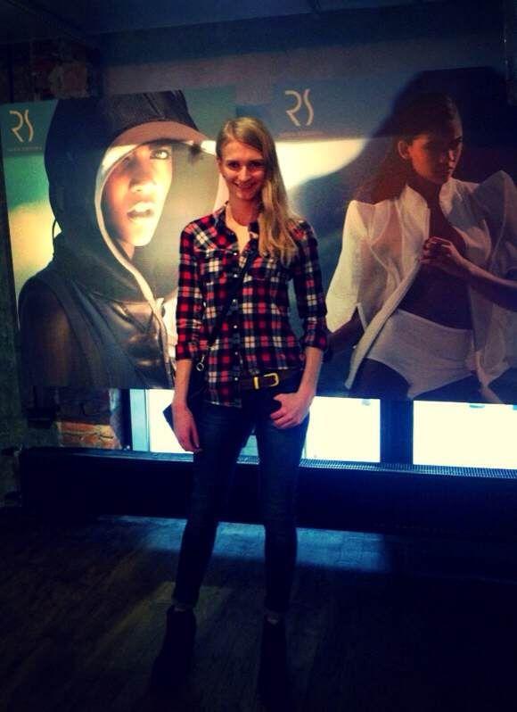 #rs #pressfday Anna Piszczałka - modelka podczas prezentacji najnowszej kolekcji RS