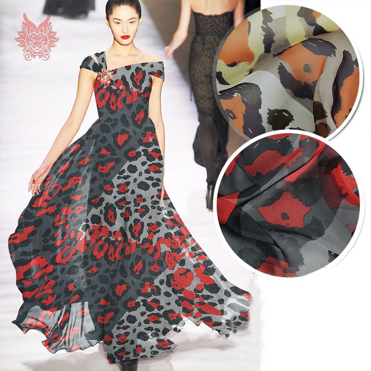 Encontre mais Tecido Informações sobre Designer sexy estampa de leopardo de café vermelho 100% silk chiffon tecido para vestido de seda pura fio de pano para costura tela tejido 6mm SP4201, de alta qualidade chiffon fabric, silk chiffon fabric China Fornecedores, Barato fabric for dress de Shop1401054 Store em Aliexpress.com