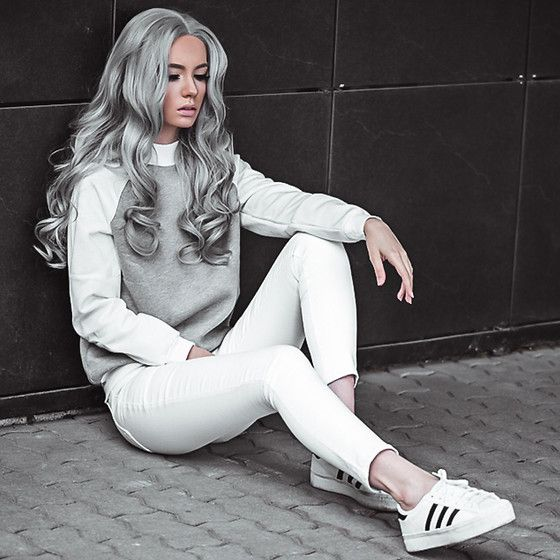 Get this look: http://lb.nu/look/8278079  More looks by Oksana Orehhova: http://lb.nu/oksiger  Items in this look:  Naa Naa Sweatshirt, Uniwigs Wig   #casual #minimal #street