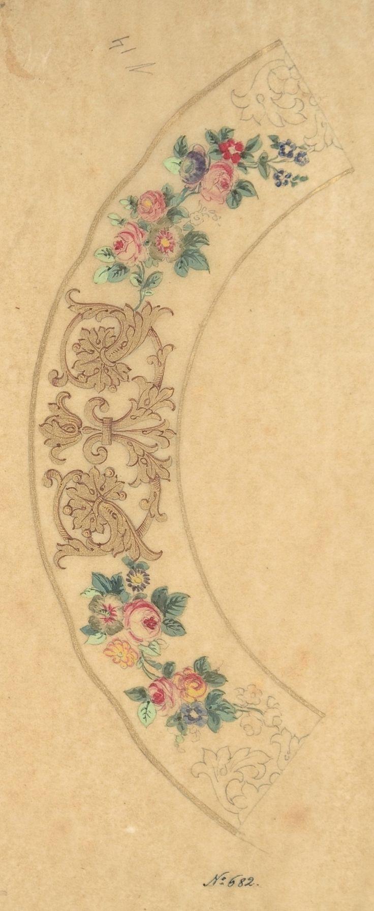 Орнамент и стиль в ДПИ - Королевская посуда. Акварельные эскизы. Ч -I