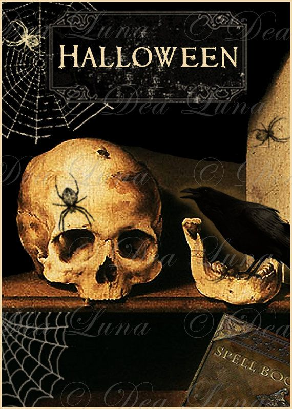 Vanitas Halloween Image Graphic Instant Digital Download