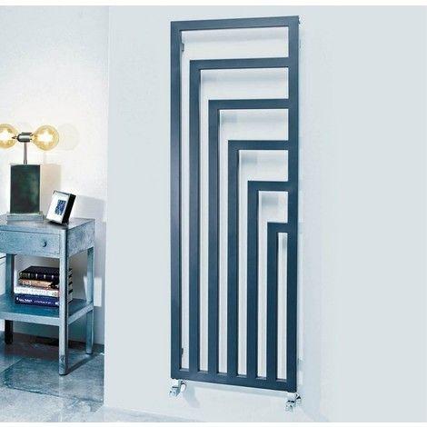 Phoenix Geo Carbon Steel Anthracite Vertical Designer Radiator 1460mm x 520mm Central Heating