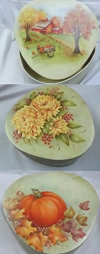 Harvest Trio Wedgewood Boxes by Mary Wiseman