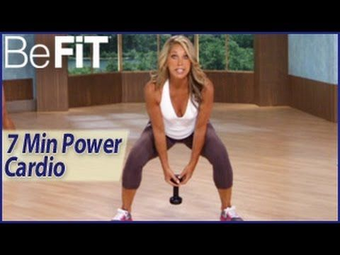 7 Min Power Cardio Weight Loss Workout: Denise Austin- Fit in a Flash. Liked it. Starts with a 2 min warm up so its more like 10 min. Cardio was good.