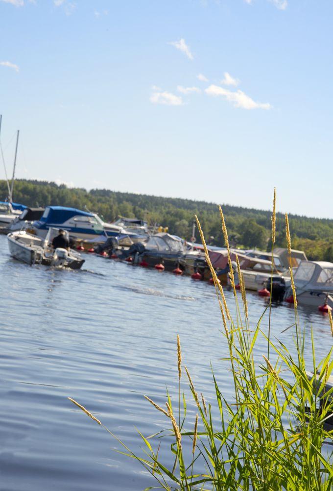 Hamnen i Smedjebacken och sjön Barken
