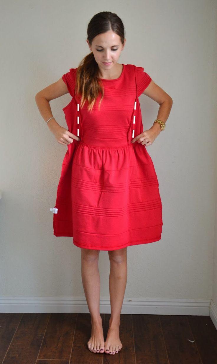 Merricks Art: RESIZING AN OVERSIZED BACK-ZIPPERED DRESS (TUTORIAL)#more