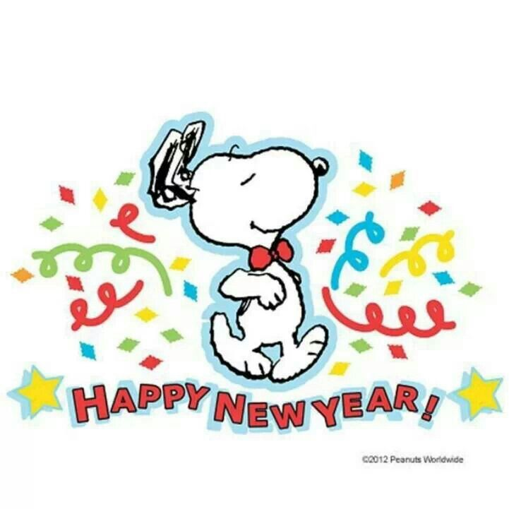 image result for snoopy new year clip art